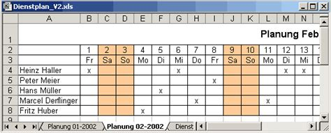 office tools dienstplan mit excel erstellen vba