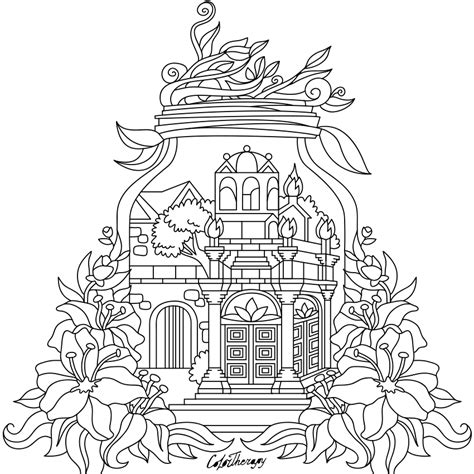 pin  coloring pages  adults  garden coloring pages