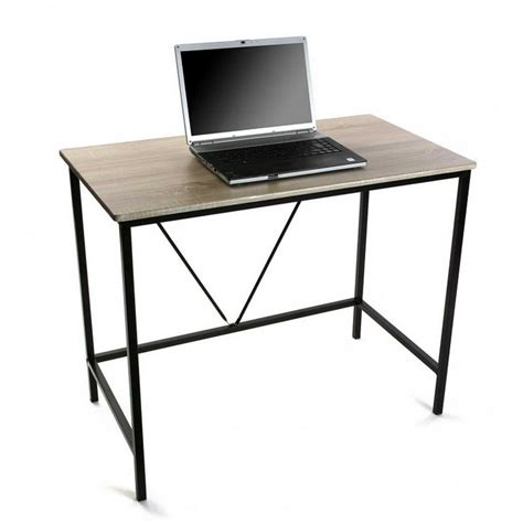 bureau 90 cm petit bureau informatique bois metal versa 90 cm