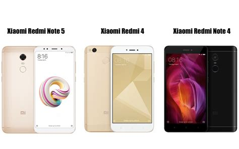 redmi note 5 vs redmi note 4 redmi 4 specifications