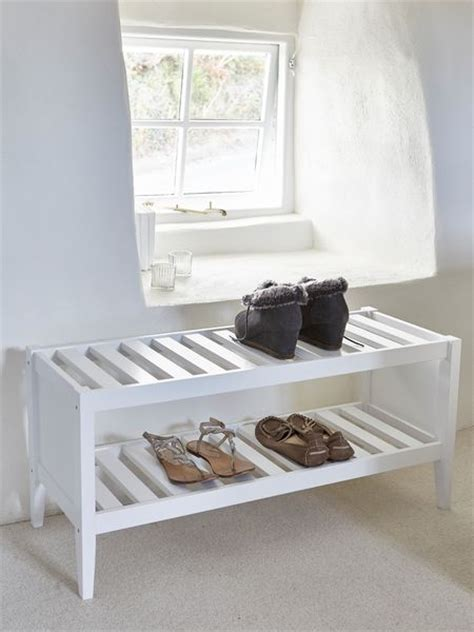 white wooden shoe rack wooden shoe rack scandi shoe rack