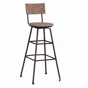 Chaise De Bar Metal : chaise de bar en bois recycl et m tal ~ Teatrodelosmanantiales.com Idées de Décoration