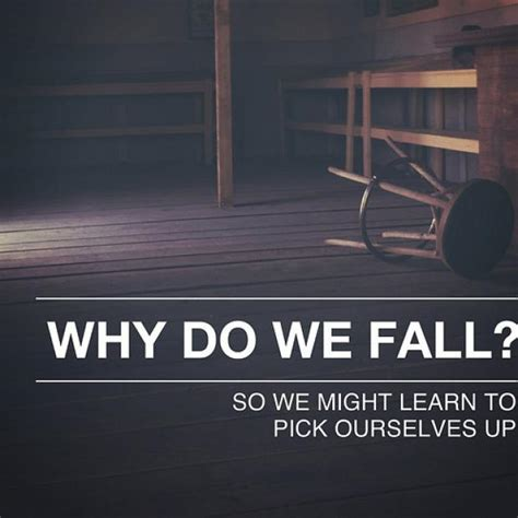 Batman Quotes Why Do We Fall Sir