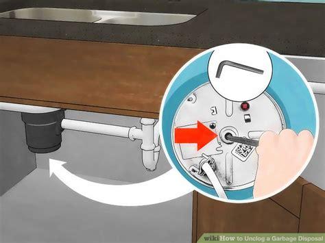 ways  unclog  garbage disposal wikihow