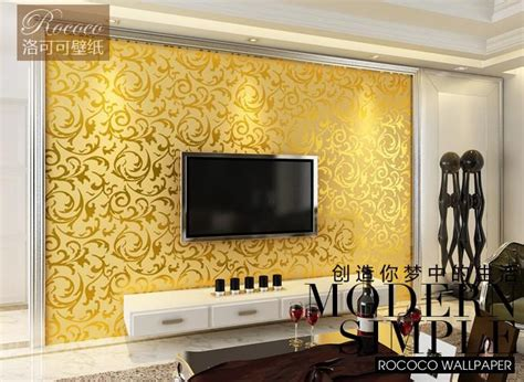 rococo brand wallpaper flocking bedroom tv wall