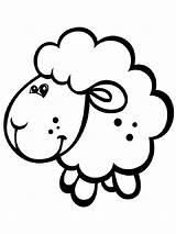 Lamb Coloring Animals Printable Colors sketch template