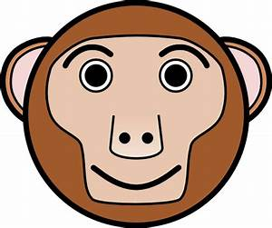 Monkey Rounded Face Clip Art at Clker.com - vector clip ...