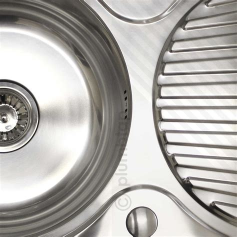 Single Bowl 1.0 Stainless Steel Inset Kitchen Sink Round