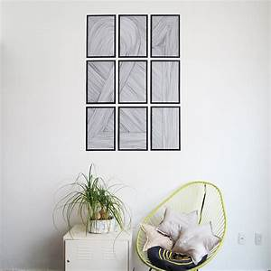 DIY easy wall art - Ohoh Blog