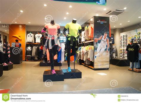 Models Sports Stores by Sports Clothes And Sports Shoes Sales Shop Editorial Image