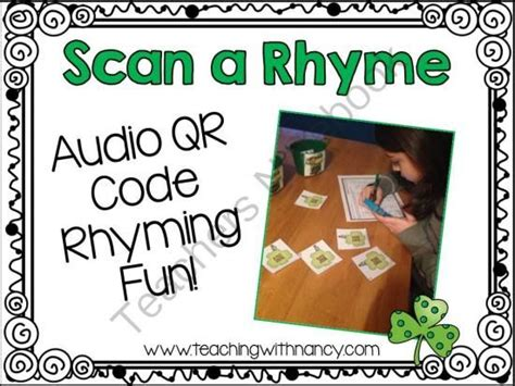 st patricks day scan  rhyme qr code activity