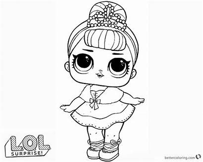 Lol Coloring Doll Pages Dolls Queen Surprise