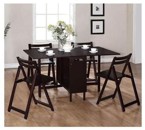 linon home decor 5 space saver table and chairs set