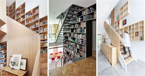 12 Inspiring Examples Of Staircases With Bookshelves