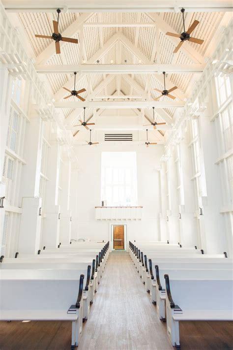 white  wooden chapel  seaside florida