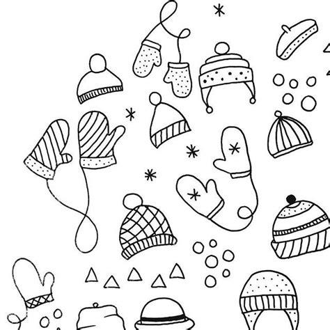 cold weather doodles ink drawing illustration doodle