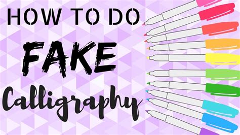 How To Have Cute Handwriting!!!! (calligraphy) Youtube