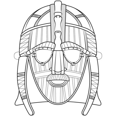 anglo saxon mask coloring page  printable coloring pages