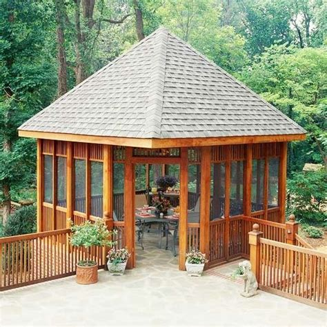 25 best ideas about screened gazebo on