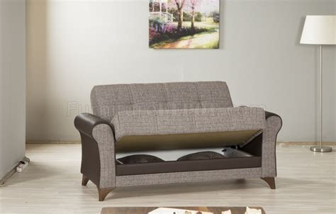 Starlight Sofa Bed In Brown Fabric By Casamode Woptions