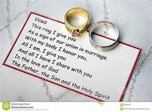 wedding rings and vows on a card stock image image 9346133 With traditional wedding ring vows