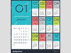 Calendar 2015 Vector Design Template Simple Blank