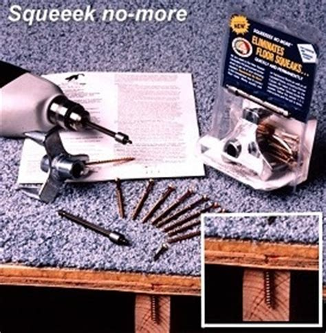 Squeaky Floor Screws Carpet by Stop Floors From Squeaking With The Squeek No More Kit For