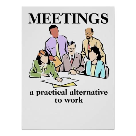 humour bureau meetings office humor workplace print poster