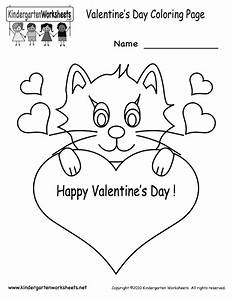 Valentine's Day Coloring Pages - Free Kindergarten Holiday ...