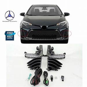 Fits 2017 2018 2019 Toyota Corolla Se Drl Lamp With Cover