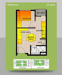 I need a design for my 24 sq meter condo