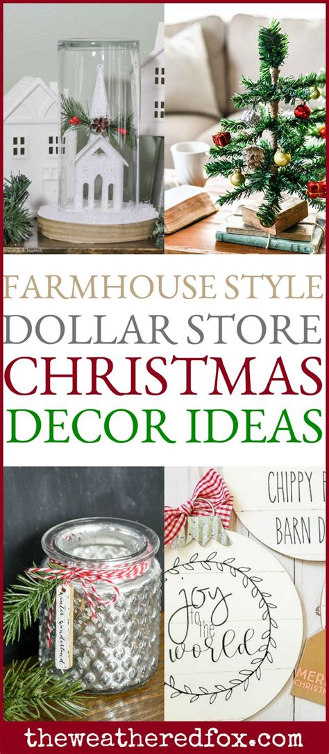 dollar store christmas ideas  pinterest