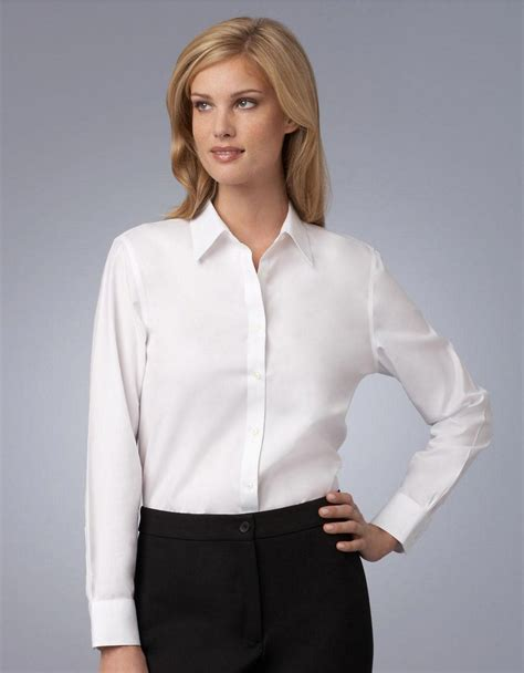 jones of york blouses jones york white easy care non iron shirt in white lyst