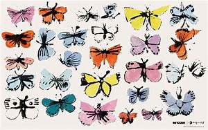 Painting Andy Warhol Butterflies wallpapers and images ...