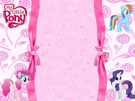 adorable   pony invitation templates magical
