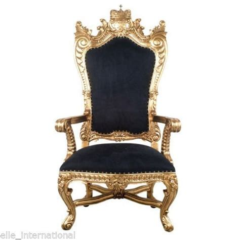 crown royal king chair chair in gold velvet mahogany carved king
