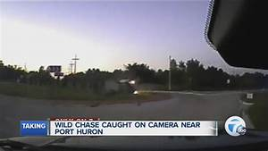 Dash-cam video shows wild police chase end with car ...