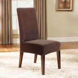 Dining Room Chairs Walmart by Sure Fit Stretch Pinstripe Short Dining Room Chair