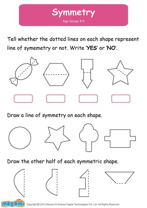 symmetry worksheet for mocomi