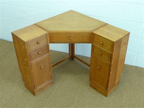 vintage corner desk heal s oak corner desk 238287 sellingantiques co uk