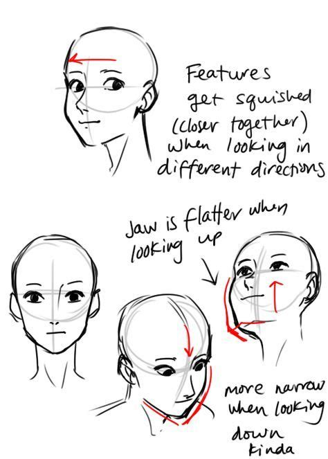 ideas  drawing reference head positions drawing