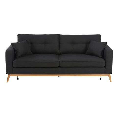canap駸 tissu canap 233 convertible 3 places en tissu anthracite