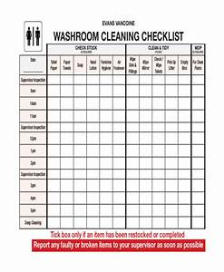 restaurant bathroom cleaning schedule template With bathroom cleaning schedule form