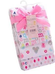 Mickey And Minnie Mouse Bath Decor by Alphabets Baby Receiving Blanket Design B Baby