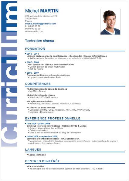 Cv En Francais Pour Etudiant by Debutant Primocv