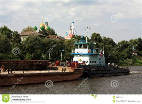 Tugboat And Barge by Barge And Tugboat Stock Images Image 34019914