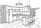 Coloring Colorear Cocina Dibujo Dibujos Minimalist Printable Cucina Minimalista Colorare Dessin Cocinas Nice Coloriage Plans Estilo Disegno Cuisine Disegni Imprimir sketch template