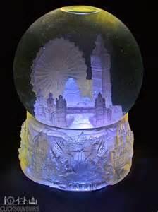 large light up london collage snowstorm snow globe
