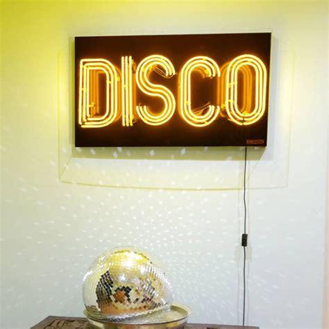 disco neon light sign brilliant neon retro