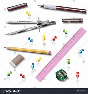 Architecture Drawing Tools Isolated On White Stock Vector ...